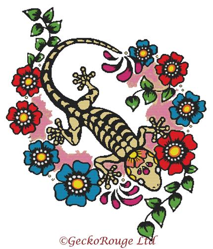 Gecko By Illustrated Ink Cross Stitch Kit (IILNKGKO)