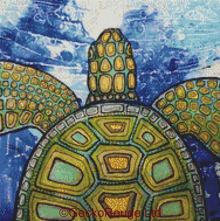 Green Turtle By Lynnette Shelley Cross Stitch Kit