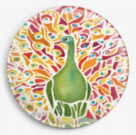Grove Peacock By Rosie Brown Licensed Art Needle Minder