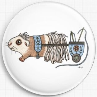 Guinea Pig By Anita Inverarity Licensed Art Needle Minder