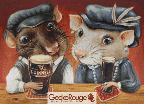 Guinness Lovers By Tanya Bond Cross Stitch Kit (TBGUINLV)