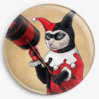 Harley Kitten by Jenny Parks Licensed Art Needle Minder