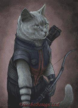 Hawkeye By Jenny Parks Cross Stitch Kit