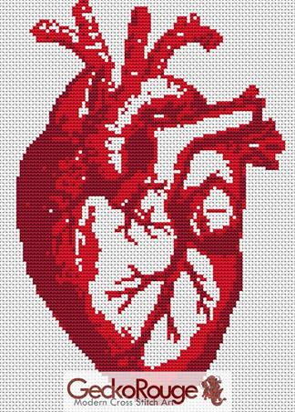 Heart Beat Counted Cross Stitch Kit (FDHRTBET)