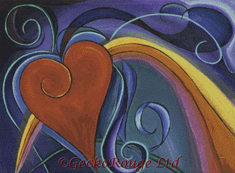 Heart Rainbow By Reina Cottier Cross Stitch Kit