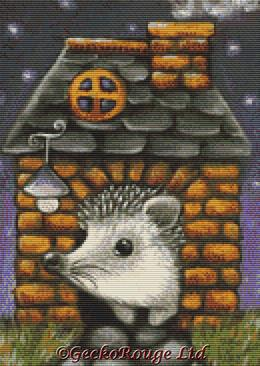 Hedgehog in a House By Tanya Bond Cross Stitch Kit