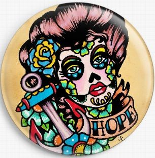 Hope By Illustrated Ink Licensed Art Needle Minder