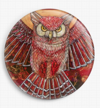 Hunter Owl By Lynnette Shelley Licensed Art Needle Minder