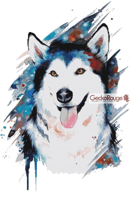 Husky By Pixie Cold Counted Cross Stitch Kit (PCHUSKY)