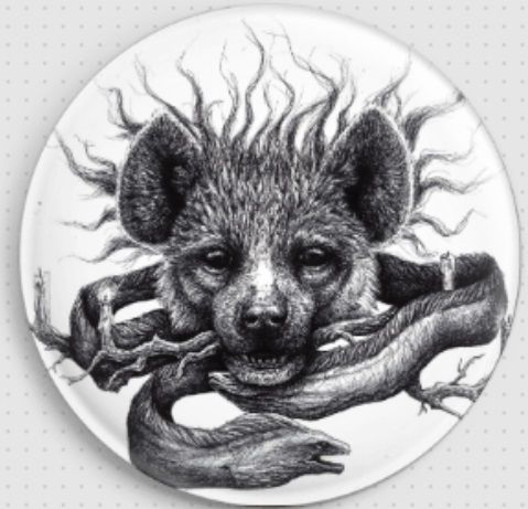 Hyena by Danielle Trudeau Needle Minder
