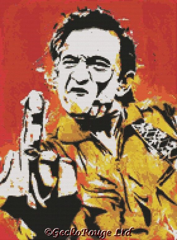 Johnny Cash By Sara Bowersock Cross Stitch Kit