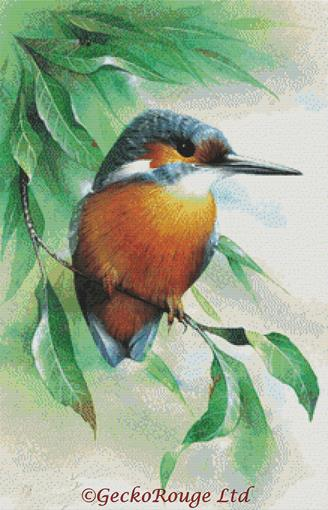 Kingfisher By David Finney Cross Stitch Kit