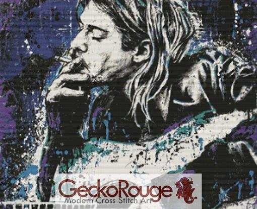 Kurt Cobain By Sara Bowersock Cross Stitch Kit (SBWBDFNK)