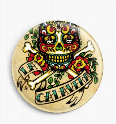 La Calavera By Illustrated Ink Licensed Art Needle Minder