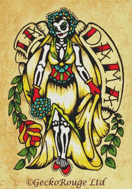 La Dama By Illustrated Ink Cross Stitch Kit