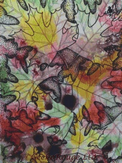 Leaves By Pamela Varacek Cross Stitch Kit