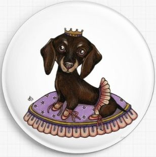 Leia Dachshund By Anita Inverarity Licensed Art Needle Minder