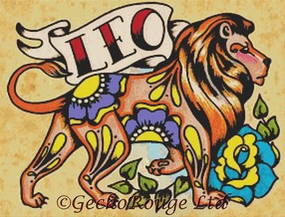 Leo By Illustrated Ink Cross Stitch Kit - Zodiac