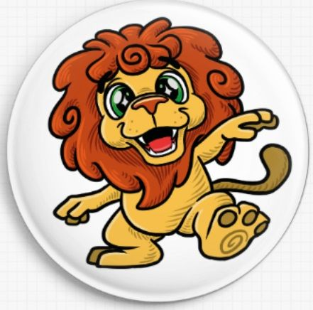 Lion Swirlies Worlld Needle Minder