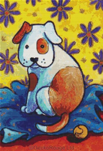 Little Dog By Lesley D Mckenzie Cross Stitch Kit (LMLTTDG)