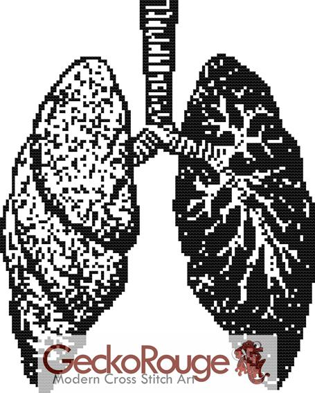 Lungs Counted Cross Stitch Kit (FSLNG310)