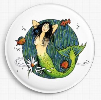 Mermaid By Barbara Glatzeder Licensed Art Needle Minder