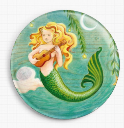 Mermaid By Eya Claire Floyd Licensed Art  Needle Minder