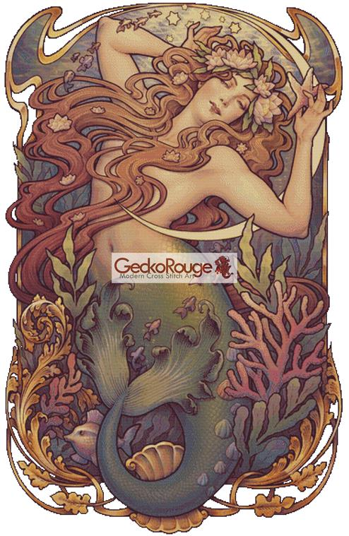 Mermaid By Medusa Dollmaker Cross Stitch Kit (MDMRMD)