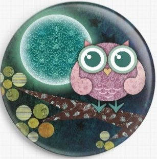 Midnight Owl By Sandra Vargas Licensed Art Needle Minder