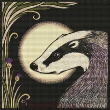 Moon Badger By Anita Inverarity Cross Stitch Kit (AIVMNBD6)