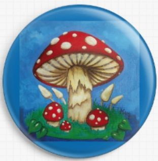 Mushrooms By Megan Mars Licensed Art Needle Minder