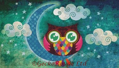My Crescent Owl By Sandra Vargas Cross Stitch Kit