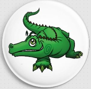 Nathan Crocodile Swirlies Worlld Needle Minder