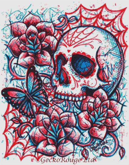 Neon Death By Carissa Rose Cross Stitch Kit (CRNNDTH)