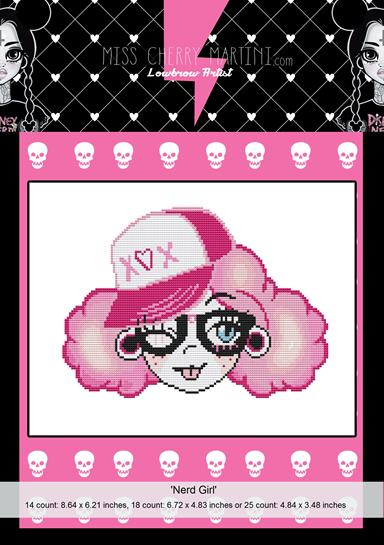 Nerd Girl By Miss Cherry Martini Cross Stitch Kit