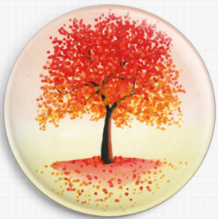 Orange Tree By Emily Luella Licensed Art Needle Minder