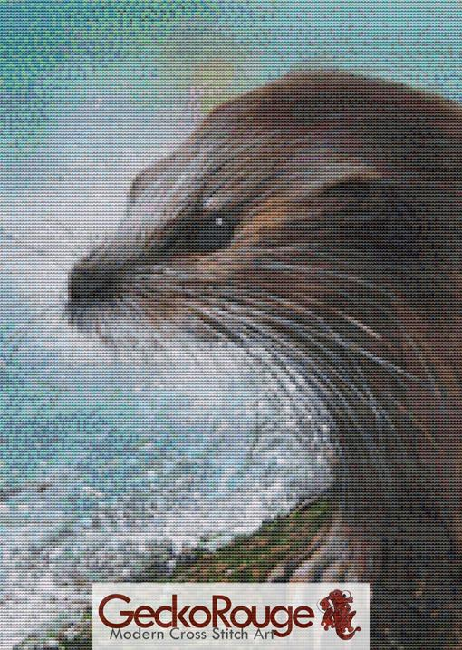 Otter Splash by David Finney Cross Stitch Kit (DFOTSPS)
