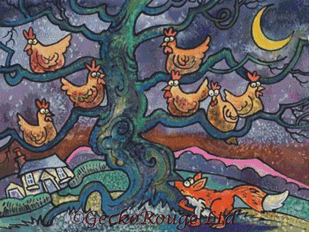 Out Foxed By Dorian Spencer Davies Art Cross Stitch Kit