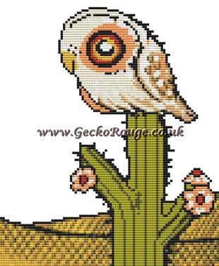 Owl Inchie 'Elf' By Anita Inverarity Cross Stitch Kit - Owl (AIELFOI)