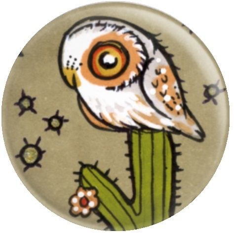 Owl Inchie 'Elf' By Anita Inverarity Licensed Art Needle Minder