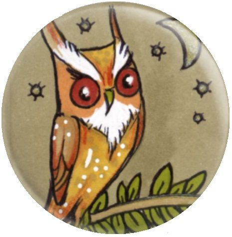 Owl Inchie 'Long Ears' By Anita Inverarity Licensed Art Needle Minder