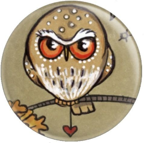 Owl Inchie 'Pygmy' By Anita Inverarity Licensed Art Needle Minder
