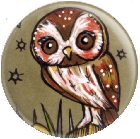 Owl Inchie 'Tawny' By Anita Inverarity Licensed Art Needle Minder