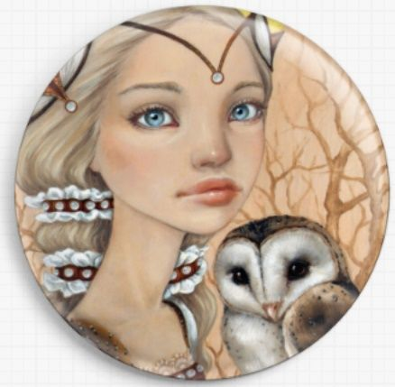 Owl Maiden By Tanya Bond Licensed Art Needle Minder
