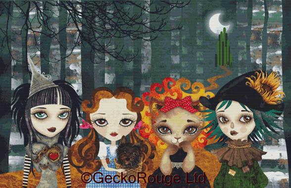 Oz Girls by Sandra Vargas Cross Stitch Kit