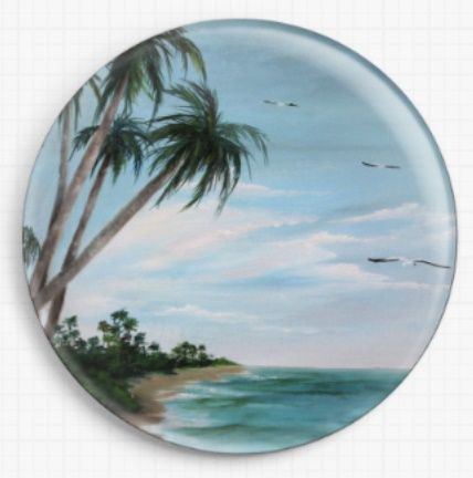Paradise Island By Rosie Brown Licensed Art Needle Minder