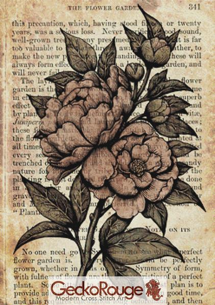 Peonies Cross Stitch Kit By Medusa Dollmaker (MDPEON)