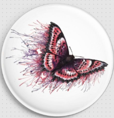 Pink Butterfly by Danielle Trudeau Needle Minder