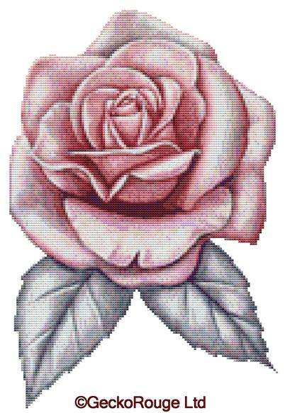 Pink Rose By Emily Luella Cross Stitch Kit