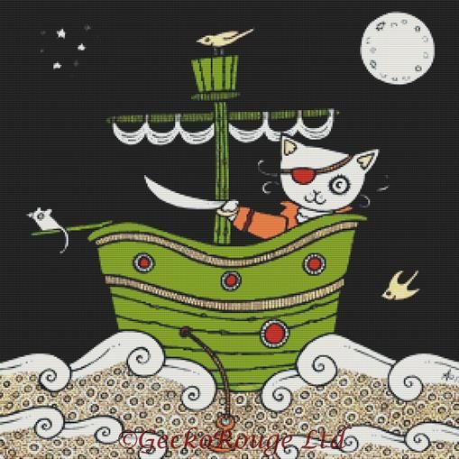 Pirate Puss By Anita Inverarity Cross Stitch Kit (AIVPPS9)